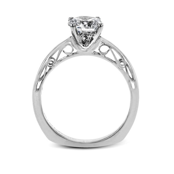 Simon G. Filigree Accented Solitaire Setting Image 3 Rolland's Jewelers Libertyville, IL