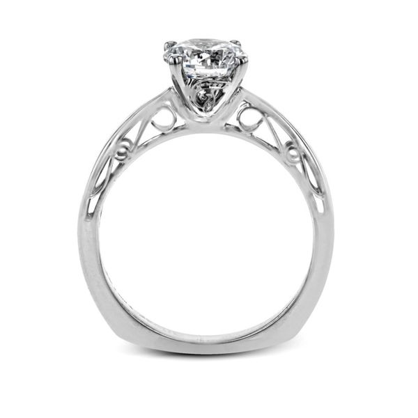 Simon G. Filigree Accented Solitaire Setting Image 4 Rolland's Jewelers Libertyville, IL