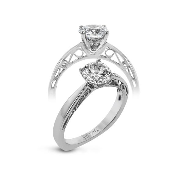 Simon G. Filigree Accented Solitaire Setting Rolland's Jewelers Libertyville, IL