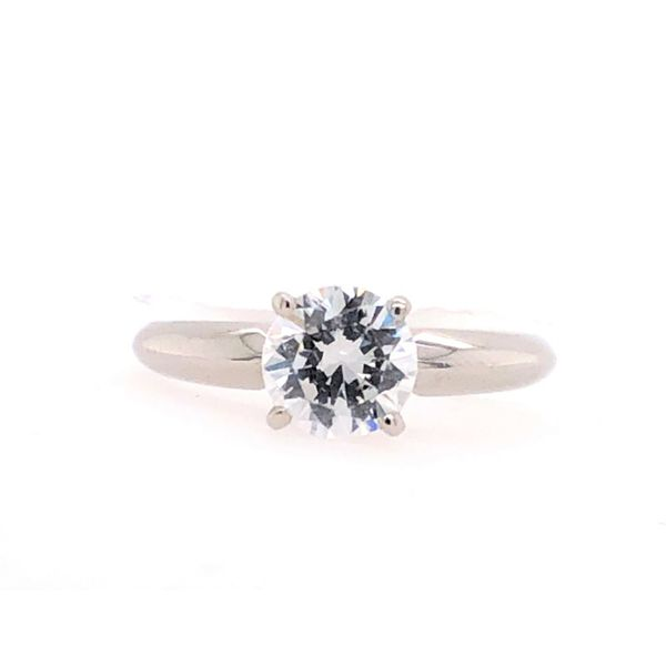 Estate Platinum Solitaire Setting Rolland's Jewelers Libertyville, IL