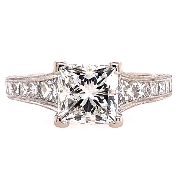 Estate Tacori 18K White Gold Diamond Setting Rolland's Jewelers Libertyville, IL