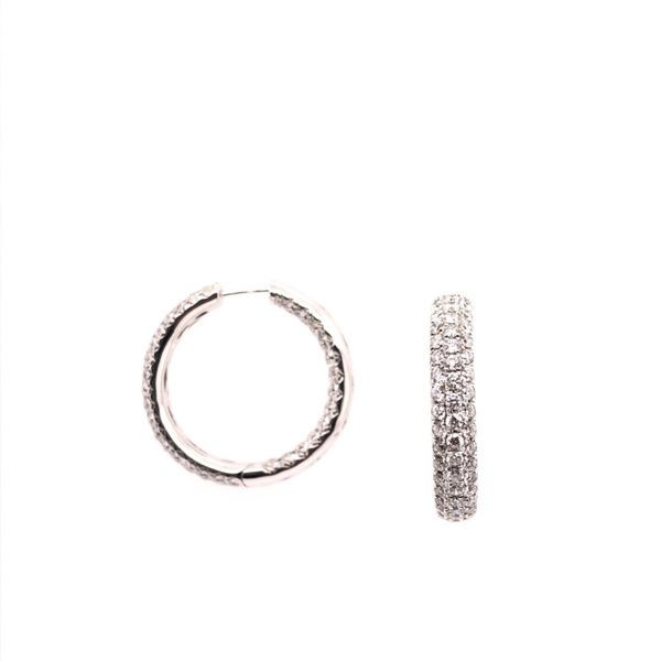 Rolland's Design Diamond Hoop Earrings Rolland's Jewelers Libertyville, IL