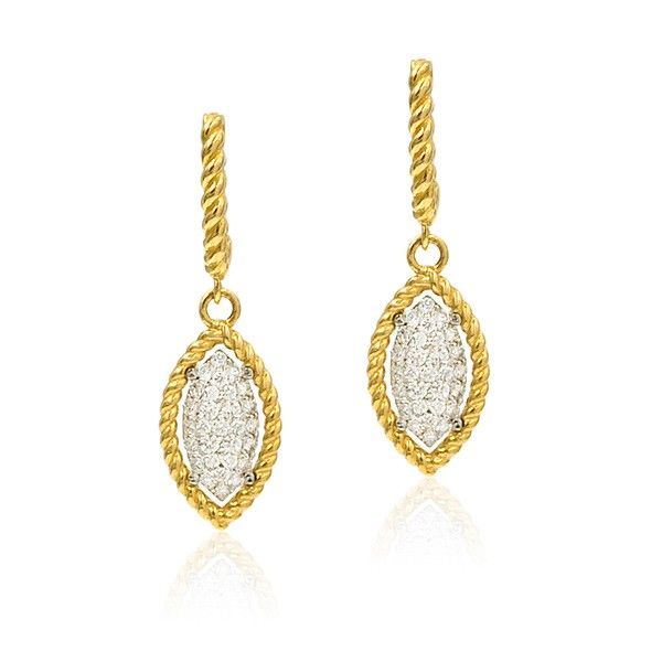 Roberto Coin New Barocco Diamond Earrings Rolland's Jewelers Libertyville, IL