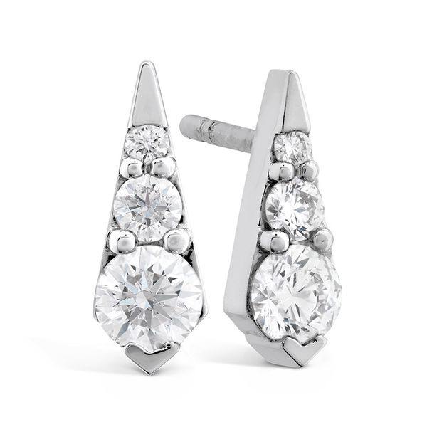 Hearts on Fire Triplicity Drop Diamond Earrings Rolland's Jewelers Libertyville, IL