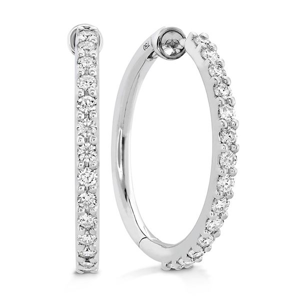 Hearts on Fire Classic Medium Diamond Hoop Earrings Rolland's Jewelers Libertyville, IL