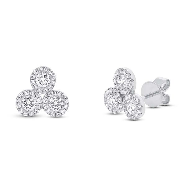 Shy Creation Triple Cluster Diamond Earrings Rolland's Jewelers Libertyville, IL