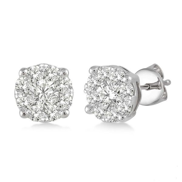 Rolland's Design Diamond Cluster Earrings 1.00 Cts Rolland's Jewelers Libertyville, IL
