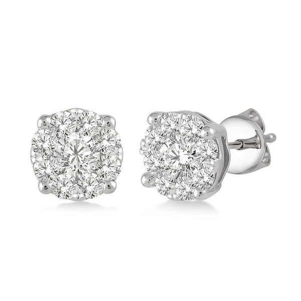 Rolland's Design Cluster Diamond Earrings- .75Cts Rolland's Jewelers Libertyville, IL