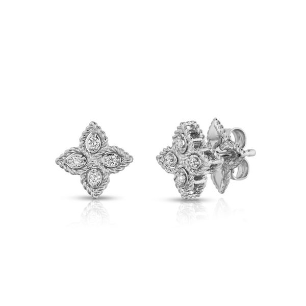 Roberto Coin Princess Flower Diamond Earrings Rolland's Jewelers Libertyville, IL