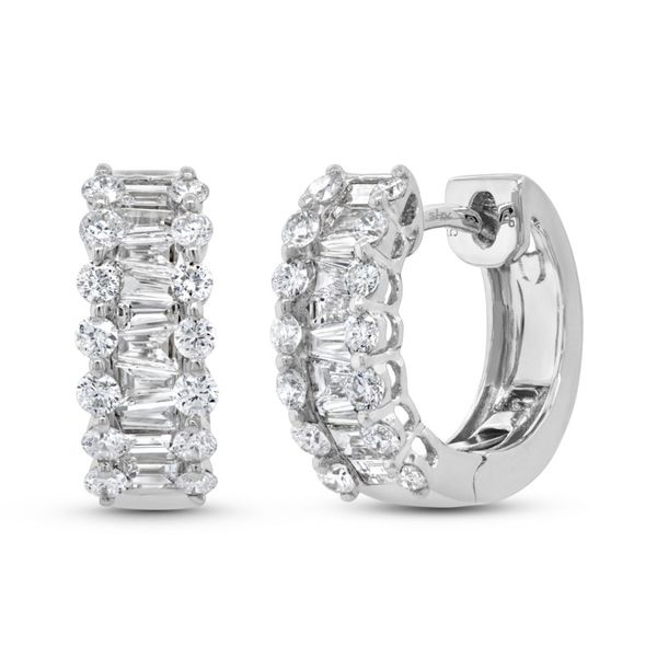 Shy Creation Diamond Hoop Earrings Rolland's Jewelers Libertyville, IL