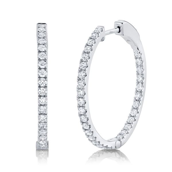 Rolland's Desing Diamond Hoop Earrings Rolland's Jewelers Libertyville, IL