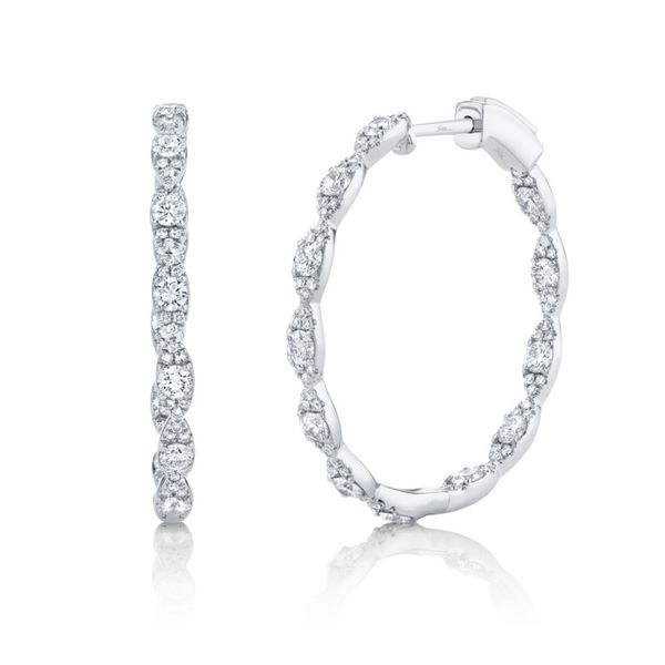 Diamond Hoop Earrings Rolland's Jewelers Libertyville, IL