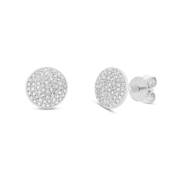 Rolland's Design Pave' Diamond Disc Earrings Rolland's Jewelers Libertyville, IL