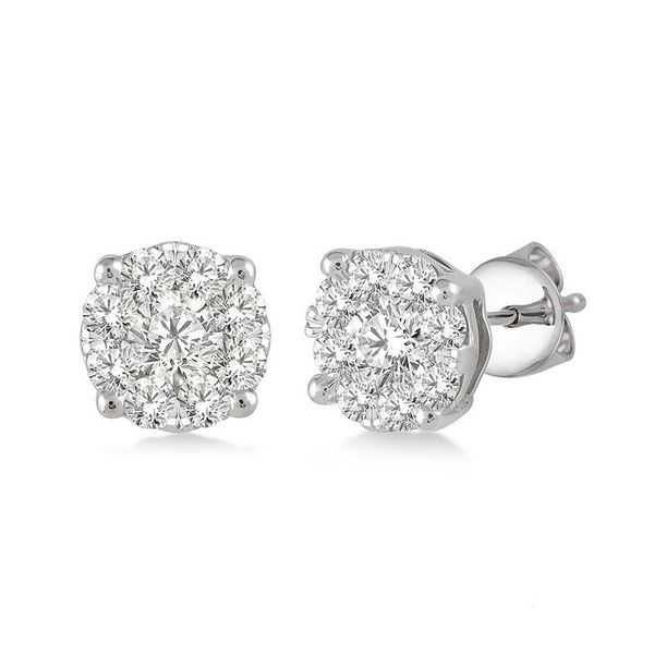 Rolland's Design Cluster Diamond Earrings 0.50Cts Rolland's Jewelers Libertyville, IL