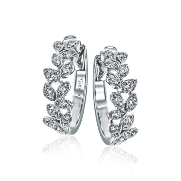 Simon G. Diamond Leaf Earrings Rolland's Jewelers Libertyville, IL