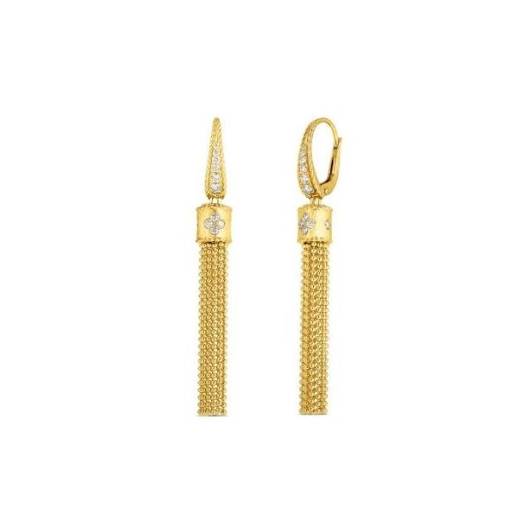 Roberto Coin Diamond Princess Tassel Earrings Rolland's Jewelers Libertyville, IL