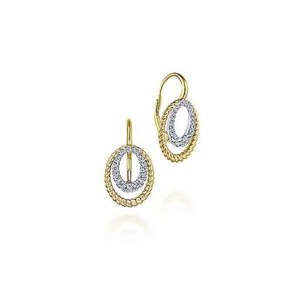 Gabriel Two-Tone Diamond Twisted Rope Earrings Rolland's Jewelers Libertyville, IL