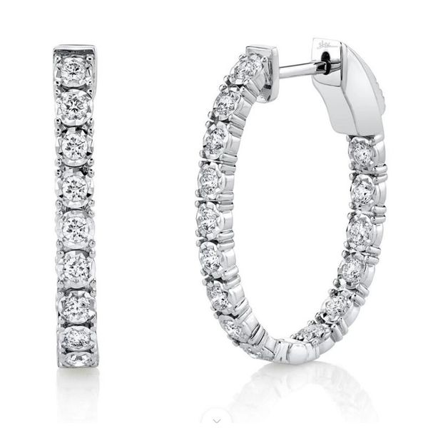 Shy Creation Diamond Oval Hoops Rolland's Jewelers Libertyville, IL