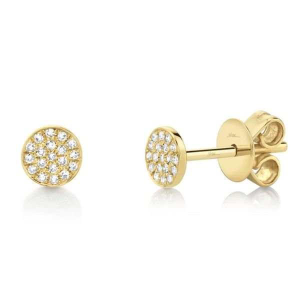 Shy Creation Diamond Pave Stud Earrings Rolland's Jewelers Libertyville, IL