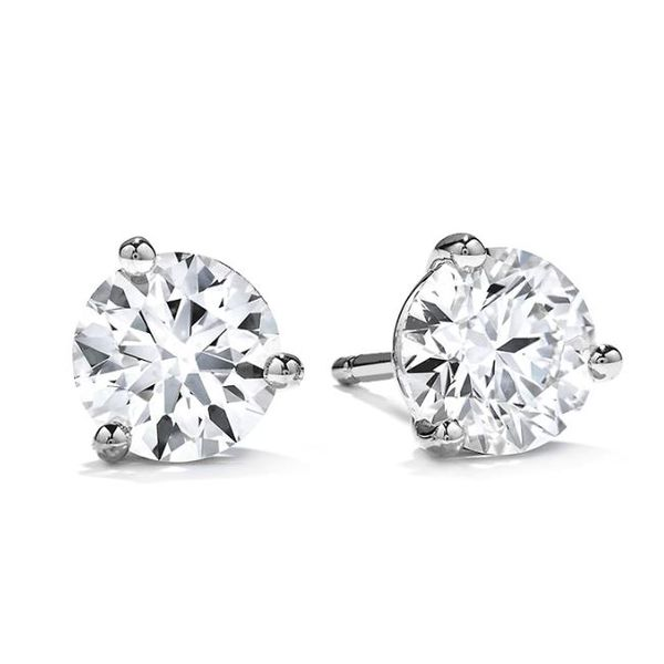 Hearts On Fire Diamond Earrings 1.50 Cts Rolland's Jewelers Libertyville, IL