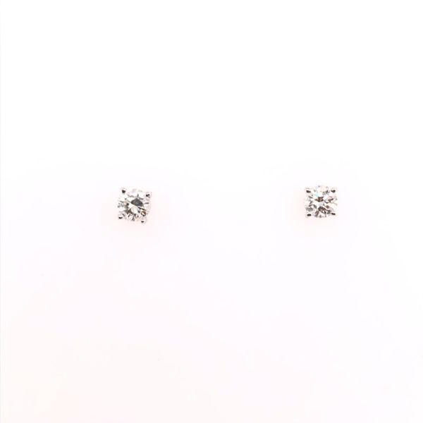 Estate 14K White Gold Diamond Stud Earrings Rolland's Jewelers Libertyville, IL