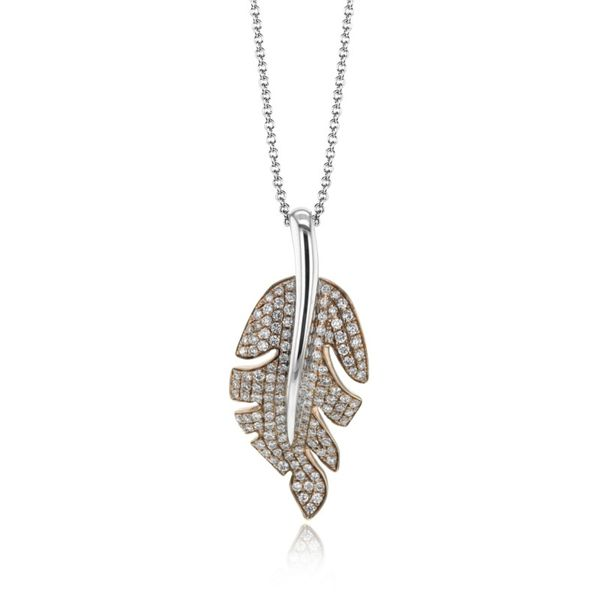 Simon G. Diamond Leaf Necklace Rolland's Jewelers Libertyville, IL