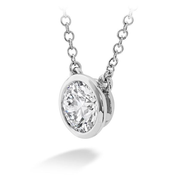 Hearts on Fire Classic Bezel Solitaire Diamond Necklace- 0.33 Cts Image 2 Rolland's Jewelers Libertyville, IL