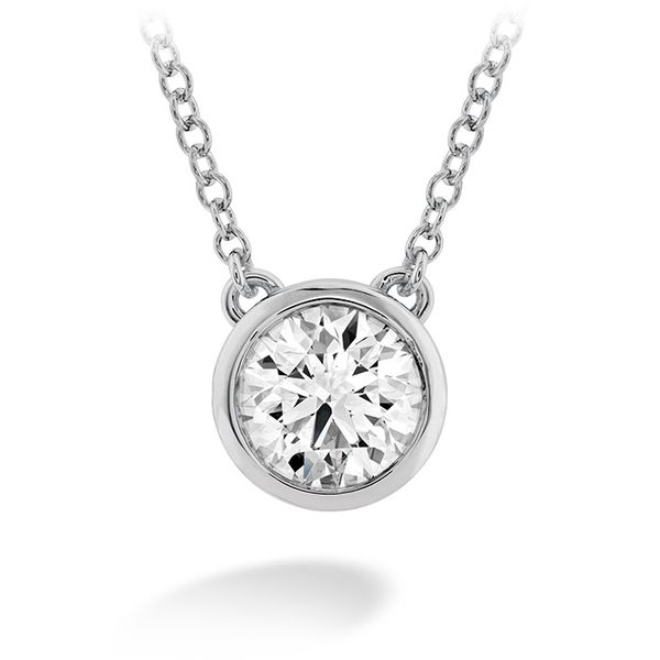 Hearts on Fire Classic Bezel Solitaire Diamond Necklace- 0.10 Cts Rolland's Jewelers Libertyville, IL