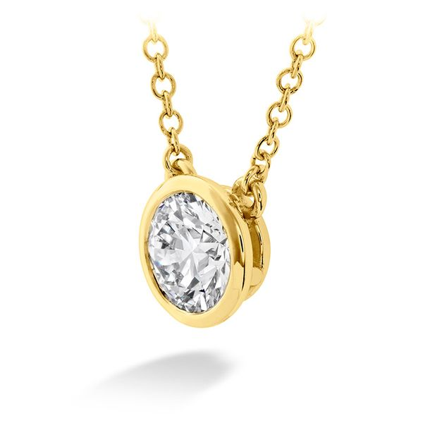 Hearts on Fire Classic Bezel Solitaire Diamond Necklace- 0.25 Cts Image 2 Rolland's Jewelers Libertyville, IL