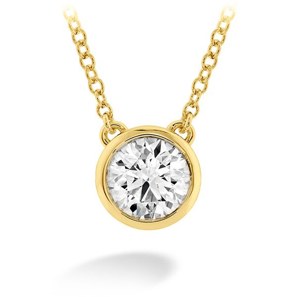 Hearts on Fire Classic Bezel Solitaire Diamond Necklace- 0.25 Cts Rolland's Jewelers Libertyville, IL