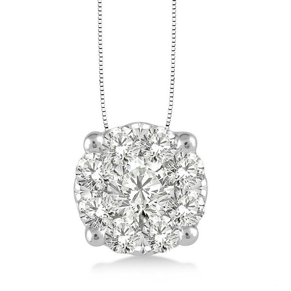 Rolland's Design Diamond Cluster Pendant- .75 Cts Rolland's Jewelers Libertyville, IL