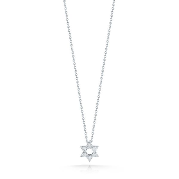 Roberto Coin Star Of David Diamond Necklace Rolland's Jewelers Libertyville, IL