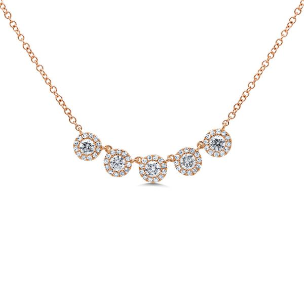 5 Station Diamond Cluster Necklace Rolland's Jewelers Libertyville, IL