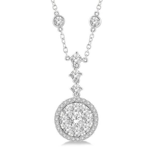 Diamond Cluster Pendant Rolland's Jewelers Libertyville, IL