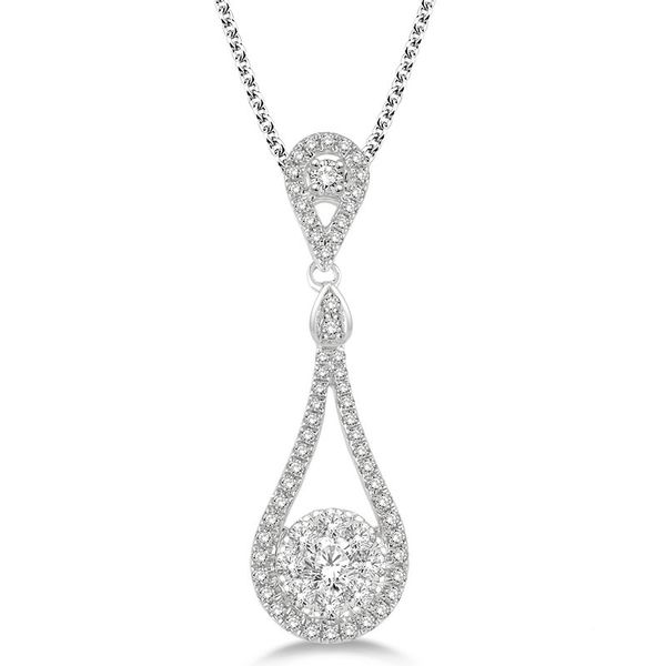 Tear Drop Diamond Cluster Pendant Rolland's Jewelers Libertyville, IL