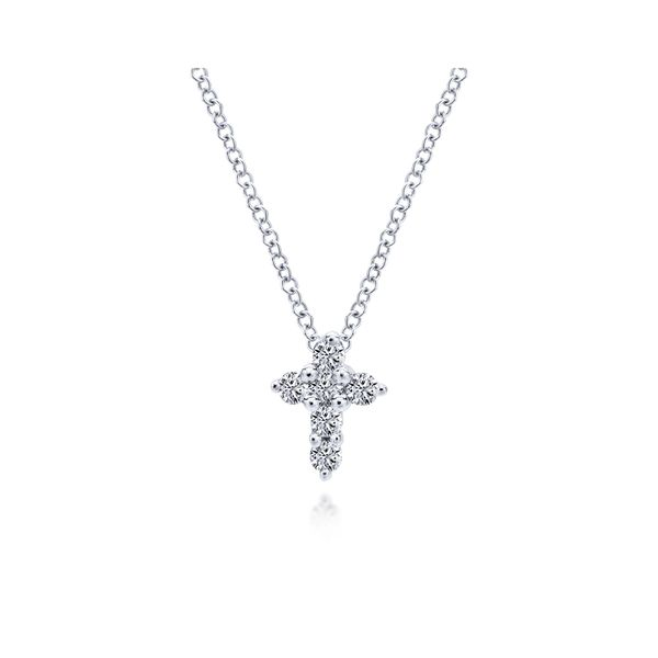 Gabriel Diamond Cross Necklace Rolland's Jewelers Libertyville, IL