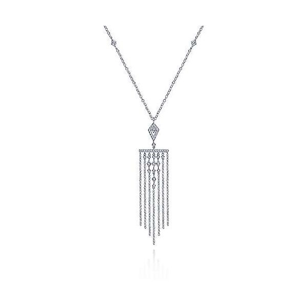Gabriel Fringe Diamond Pendant Necklace Rolland's Jewelers Libertyville, IL