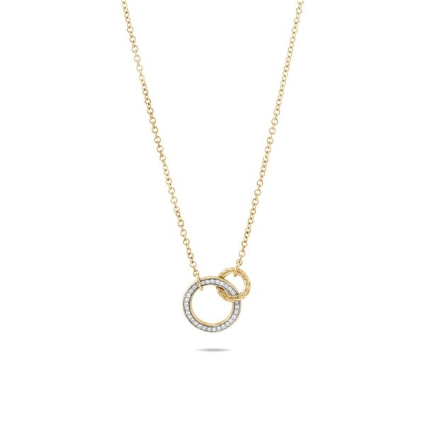 John Hardy Classic Chain Diamond Interlinking Pendant Rolland's Jewelers Libertyville, IL