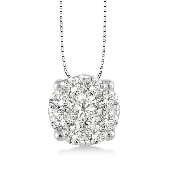 Rolland's Design Diamond Cluster Pendant- 0.25 Cts Rolland's Jewelers Libertyville, IL