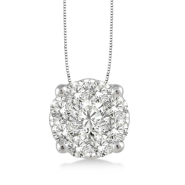 Rolland's Design Diamond Cluster Pendant- 0.50 Cts Rolland's Jewelers Libertyville, IL