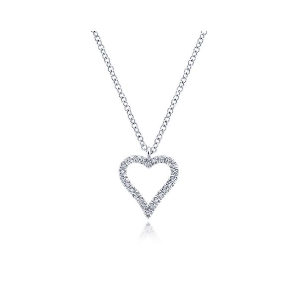 Gabriel Diamond Heart Necklace Rolland's Jewelers Libertyville, IL