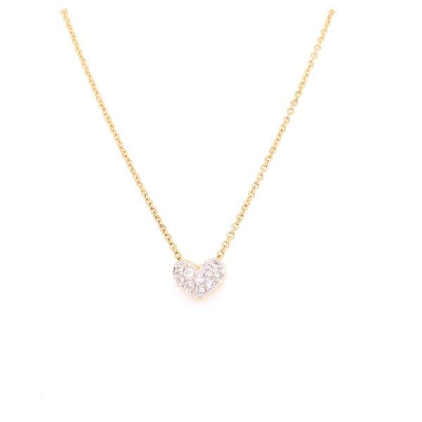 Estate 14K Yellow Gold Diamond Heart Pendant Rolland's Jewelers Libertyville, IL