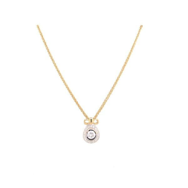 Estate 18K Gold Pendant With 14K Chain Rolland's Jewelers Libertyville, IL