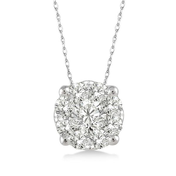 Rolland's Design Diamond Cluster Pendant- 0.12 Cts Rolland's Jewelers Libertyville, IL