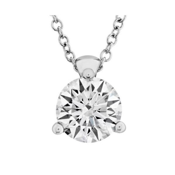Hearts On Fire 3 Prong Solitaire Pendant -0.50ct Rolland's Jewelers Libertyville, IL