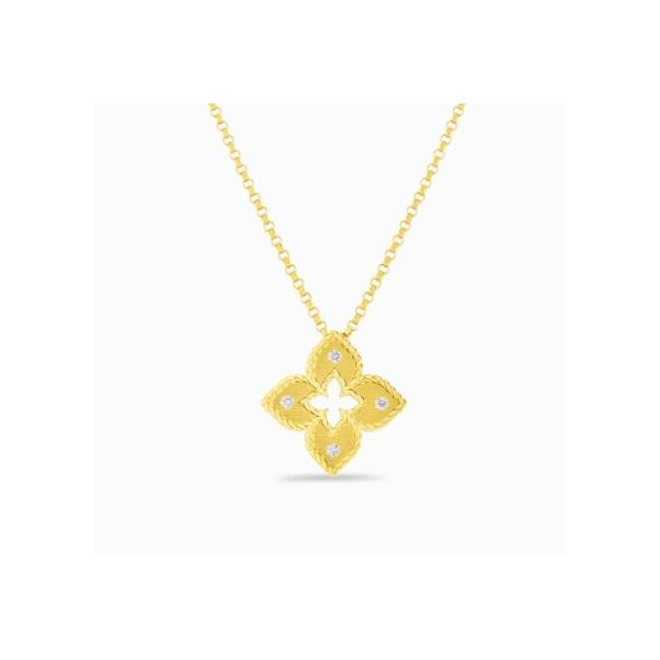 Roberto Coin Diamond Cross Necklace Rolland's Jewelers Libertyville, IL