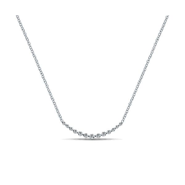 Gabriel Diamond Curved Bar Necklace Rolland's Jewelers Libertyville, IL