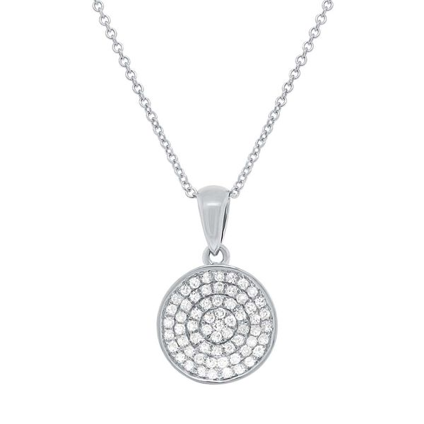 Shy Creation Pave Diamond Circle Necklace Rolland's Jewelers Libertyville, IL
