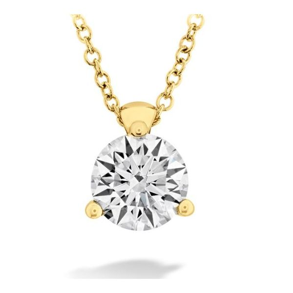 Hearts on Fire 3 Prong Diamond Solitaire Pendant Rolland's Jewelers Libertyville, IL