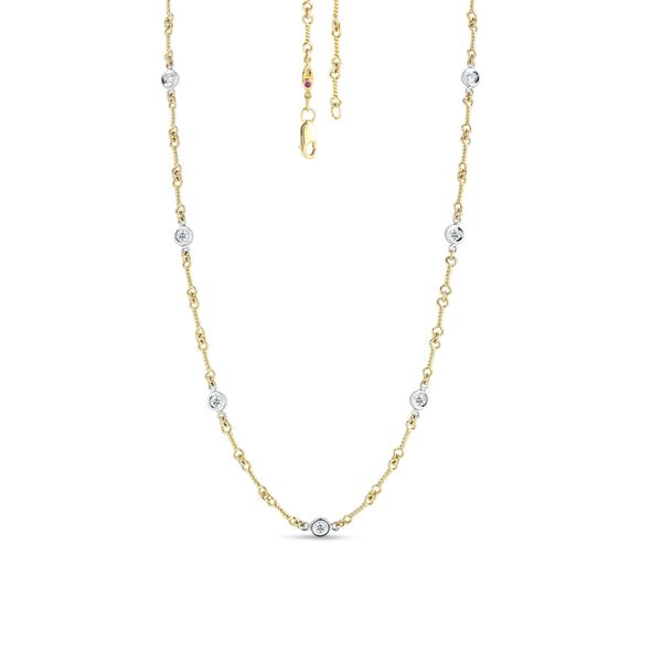 Roberto Coin Diamond Station Necklace Rolland's Jewelers Libertyville, IL